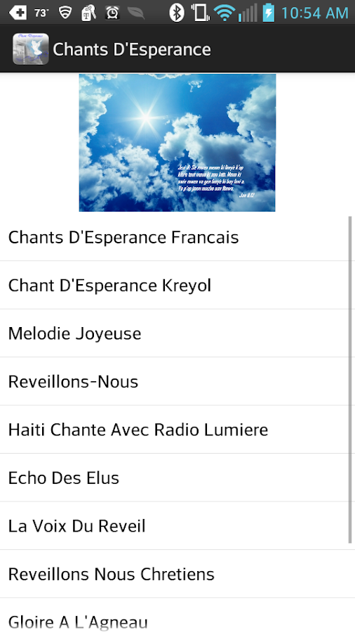 Chants D'Esperance - screenshot