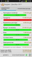 Screenshot of Family budget