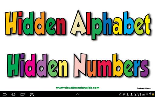 Hidden Alphabet and Numbers