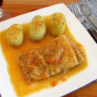 Cod In Tomato Sauce.