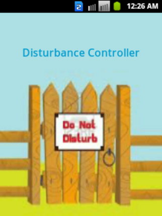 Disturbance Controller- screenshot