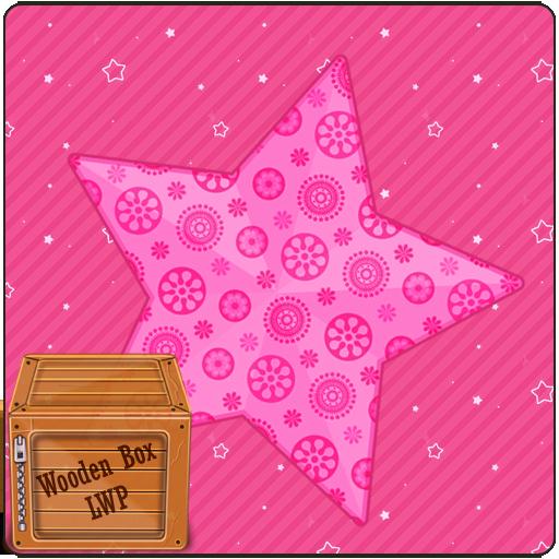 个人化のピンクの愛の輝きのスター LWP LOGO-記事Game