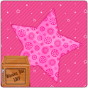 Pink Love Sparkle Star LWP icon