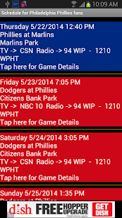 Schedule Philadelphia Phillies - screenshot thumbnail