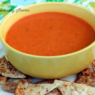 Cream of Roasted Red Pepper 'n Tomato Soup.