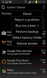 System cleaner ROOT - screenshot thumbnail