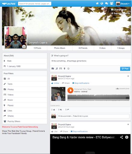 Leva Patel Social Network