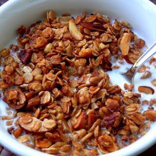 Homemade Nutty Vanilla Granola.