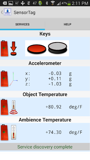 TI SensorTag THR