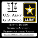 US Army Rights Warning Card icon