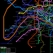 PARIS METRO SUBWAY MAP HD