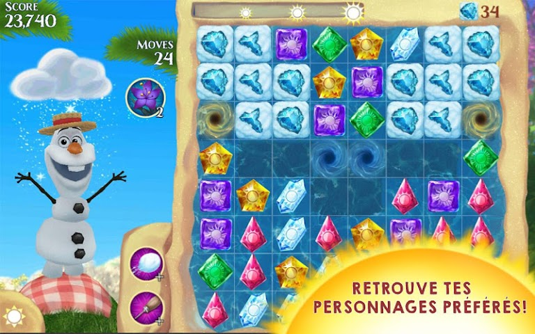 android La Reine des Neiges Free Fall Screenshot 1