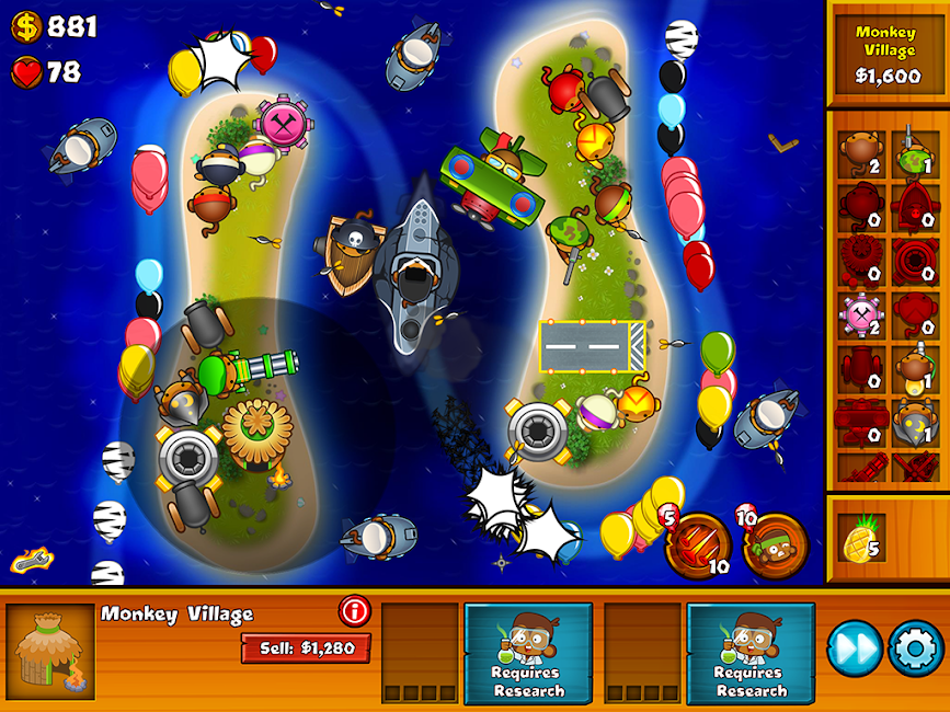 #12. Bloons Monkey City (Android)