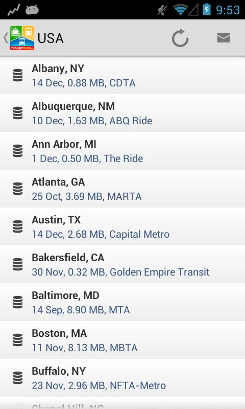TransitTimes+ - screenshot