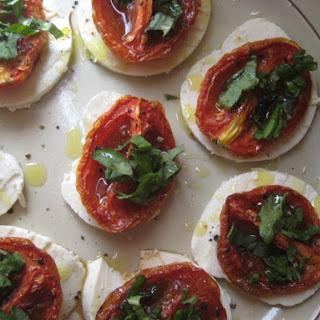 Oven Roasted Tomato Caprese.