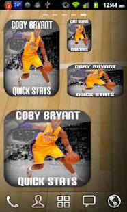 Kobe Bryant Stats Widget