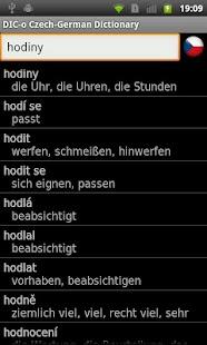 Czech-German offline dict.- screenshot thumbnail