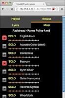 Screenshot of Karaoke Live MIDI Player DEMO