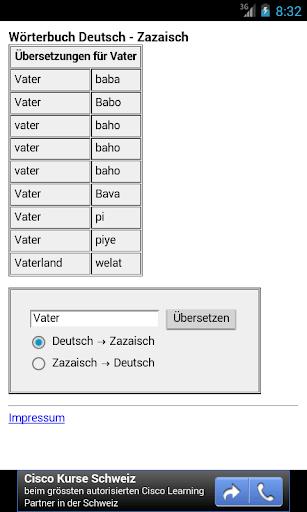 Zazaisch Wörterbuch