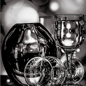 Glass  by Nabeel Madarati - Black & White Objects & Still Life