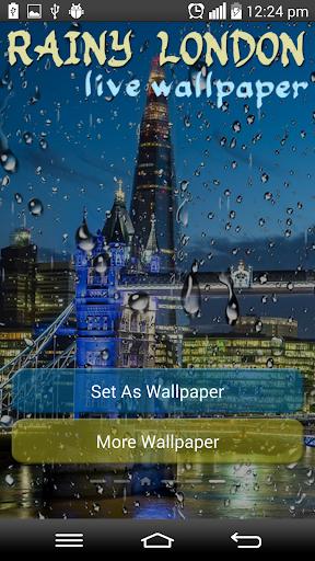 Rainy London Live Wallpaper