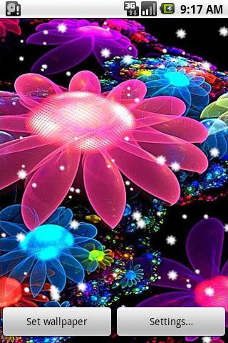 4D Flowers Live Wallpaper