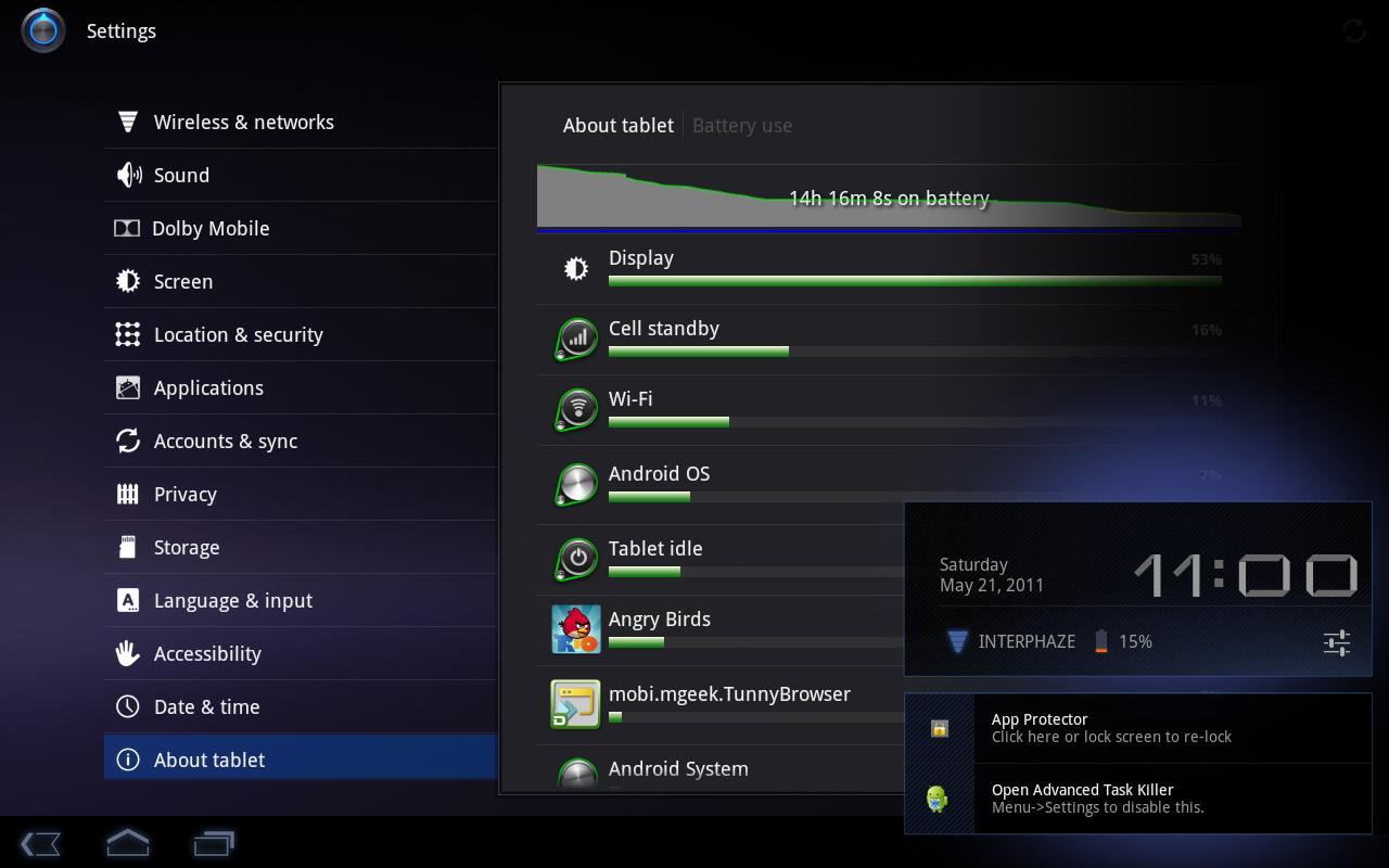 Acer Iconia Battery Saver - screenshot