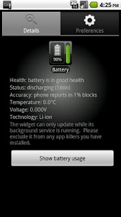 Battery Watcher Widget- screenshot thumbnail