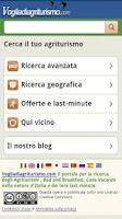 Screenshot of Voglia di agriturismo
