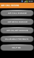 Screenshot of Air call Receive