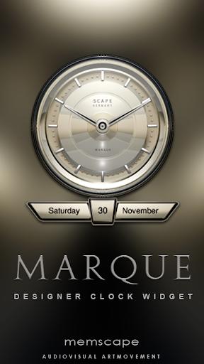 MARQUE Designer Clock Widget