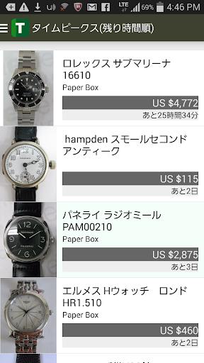 ブランド時計フリマアプリ「タイムピークス」国際オークション