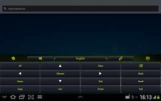 Screenshot of Green Keyboard App Theme
