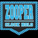 Zooper Holo Card Clock