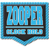 Zooper Holo Card Clock