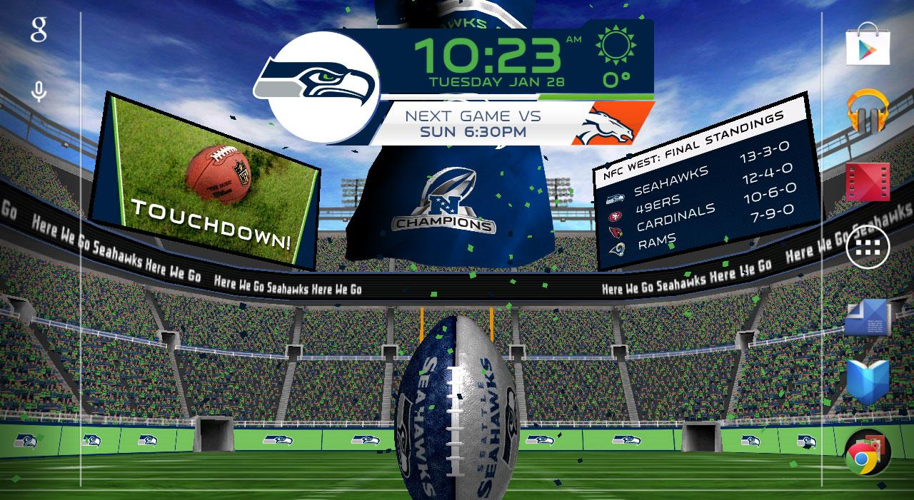 seattle seahawks live wallpaper  NFL 2014 Live Wallpaper - Google Play Store revenue