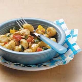 Gnocchi with Pesto Sauce.