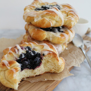 Blueberry Lemon Coffee Cake Rings