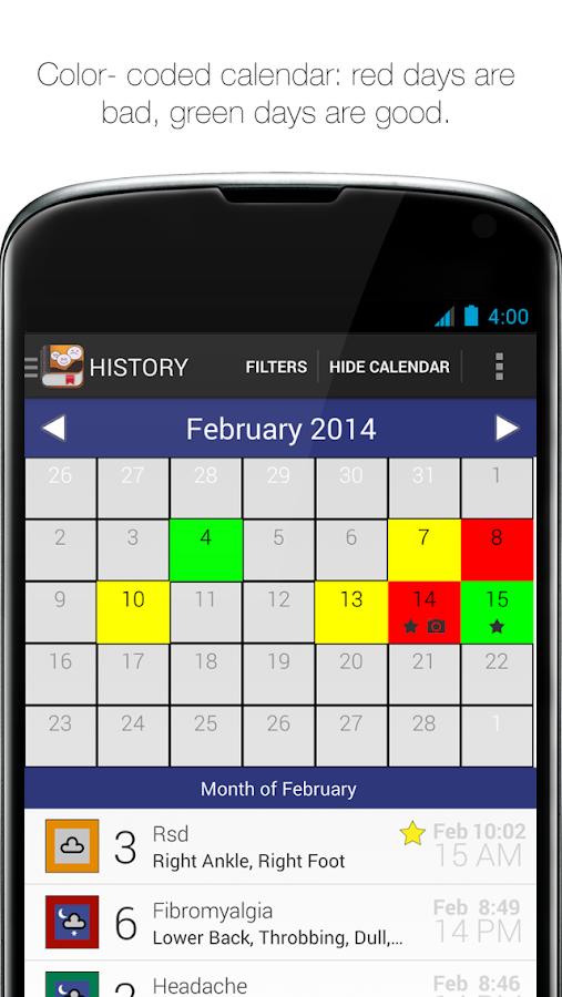 My Pain Diary - screenshot