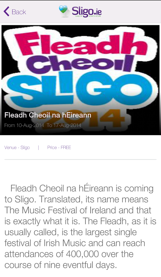 Sligo.ie- screenshot