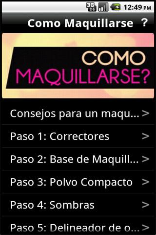 Como maquillarse - screenshot