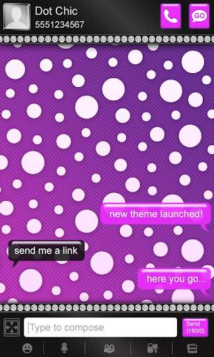 【免費個人化App】Beautiful Purple Polka Dot SMS-APP點子