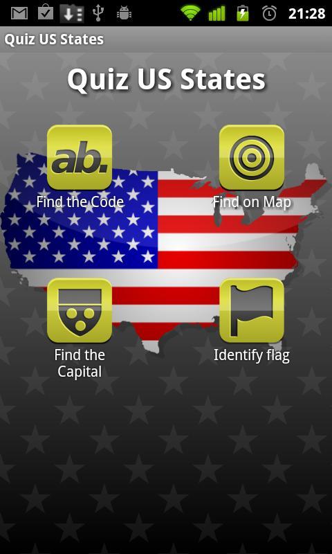 Quiz US States- screenshot