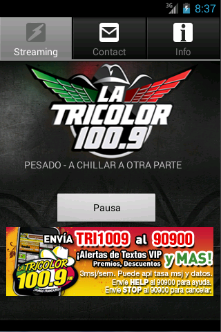 La Tricolor 100.9 - screenshot