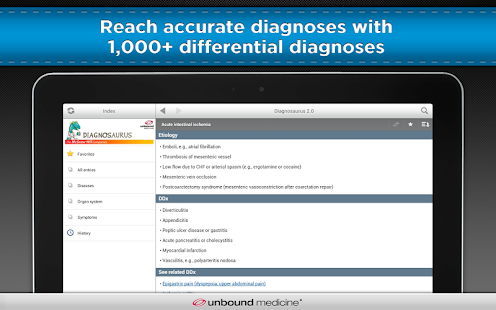 Diagnosaurus DDx screenshot for Android