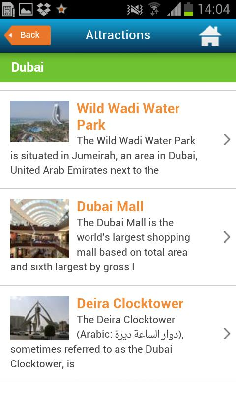 Dubai Guide, Hotels & Weather- screenshot