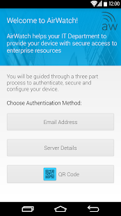 AirWatch Agent- screenshot thumbnail