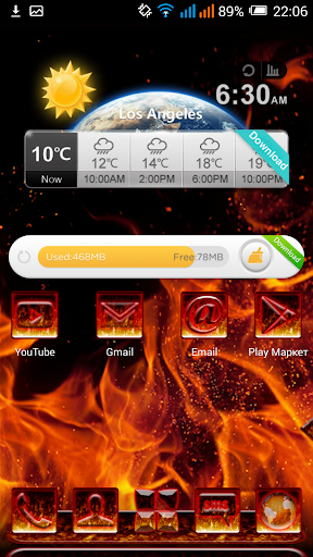 NEXT LAUNCHER 3D THEME FLAME