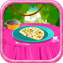Tasty omelet food games icon