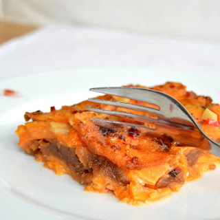 Sweet Potato & Peanut Butter Gratin